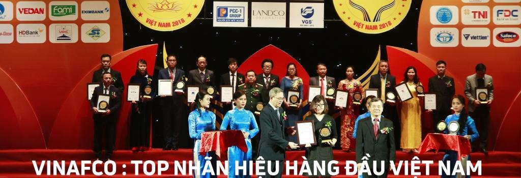 VINAFCO: TOP 50 NHÃN HIỆU HÀNG ĐẦU VIỆT NAM 2018