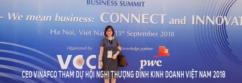 CEO VINAFCO THAM DỰ HỘI NGHỊ THƯỢNG ĐỈNH KINH DOANH VIỆT NAM 2018