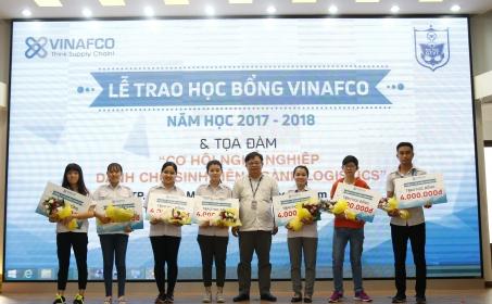 Lễ trao học bổng Vinafco & Tọa Đàm cơ hội nghề nghiệp dành cho sinh viên ngành Logistics
